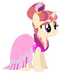 Moondancer's sister's wedding attendance gown by unicornsmile