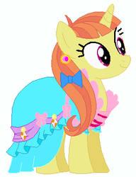 Citrus Blush's wedding attendance gown by unicornsmile
