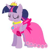 Princess twilight's wedding attendance gown 04 by unicornsmile
