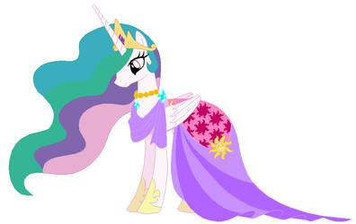 Princess celestia's wedding attendance gown 03 by unicornsmile