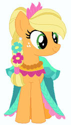 Applejack's wedding attendance gown 07 by unicornsmile