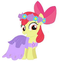 Applebloom's wedding attendance gown 03 by unicornsmile