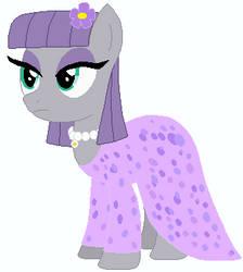 Maud Pie's wedding attendance gown 02 by unicornsmile