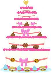 Pinkiepie and Cheesesandwich's wedding cake by unicornsmile