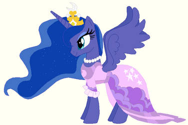 Princess luna's wedding attendance gown 02 by unicornsmile