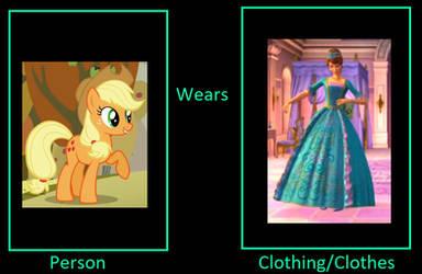 Applejack wears Aramina's gown by unicornsmile