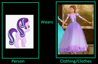 Starlight glimmer wears Isla's gown by unicornsmile