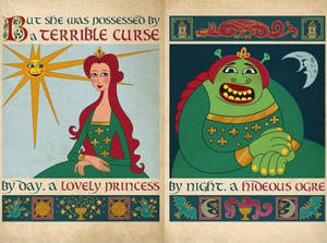 Princess Fiona Book Illustration