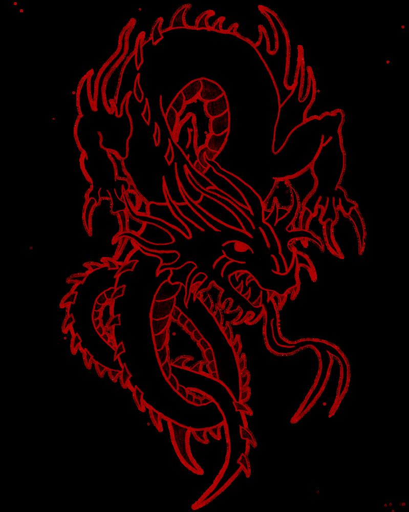 Dark Dragon by ScorpiiLupi