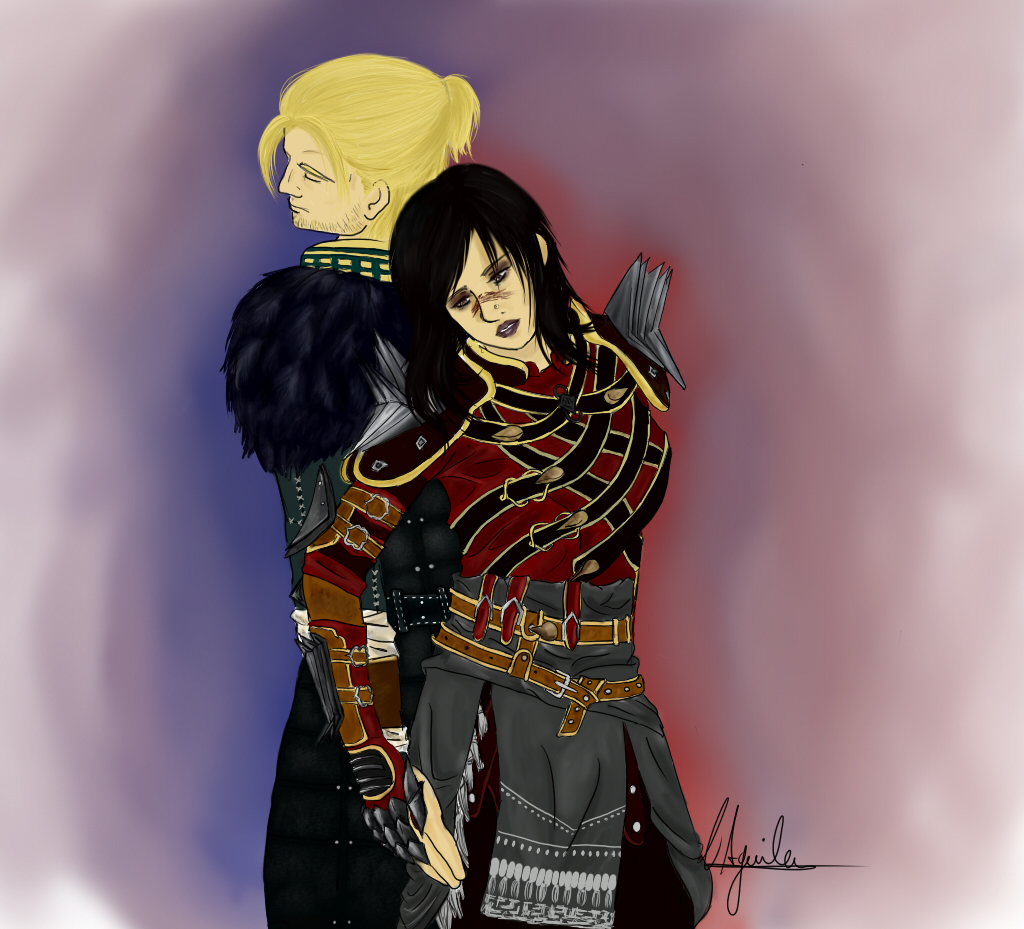 Anders and Kathleen Hawke by YukinaSk