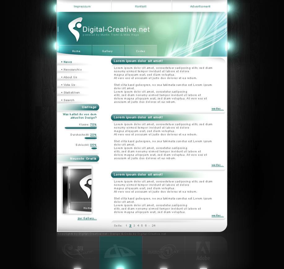 Digital-Creative.net Homepage by mike-hege
