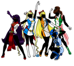 The Legion of Senshi-Heroes: Inners Edition