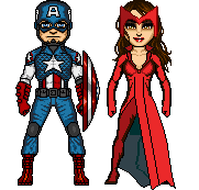 Marvel Now - Captain America and Scarlet Witch by therealOrkie