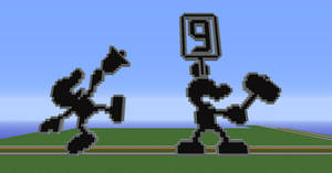 Some Mr. Game and Watch pixel art.