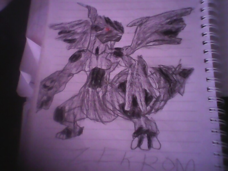 my drawings zekrom by piplupiloveyou
