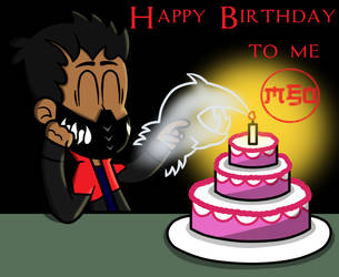 Happy Birthday to Me: Candle by MonsterFan50