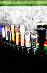 Colorful Beer Taps - Irish-inspired Background
