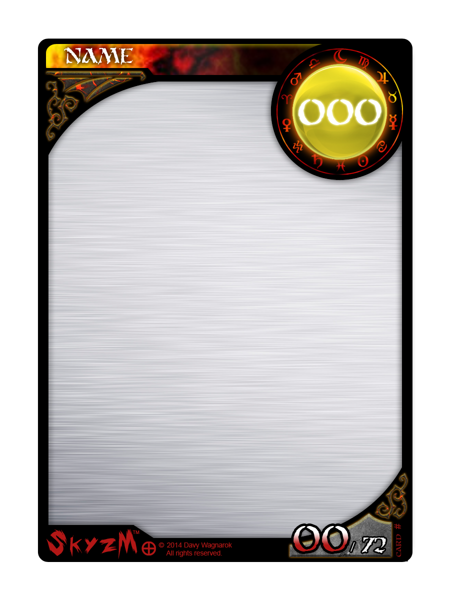 Game Card Templates. card template dungeons dragons conquest of ...