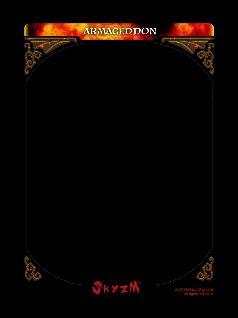 Skyzm Hoe Hell Armageddon Card Template By Davywagnarok On Deviantart