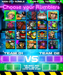 CHOOSE YOUR FIGHTER SCREEN by DavyWagnarok