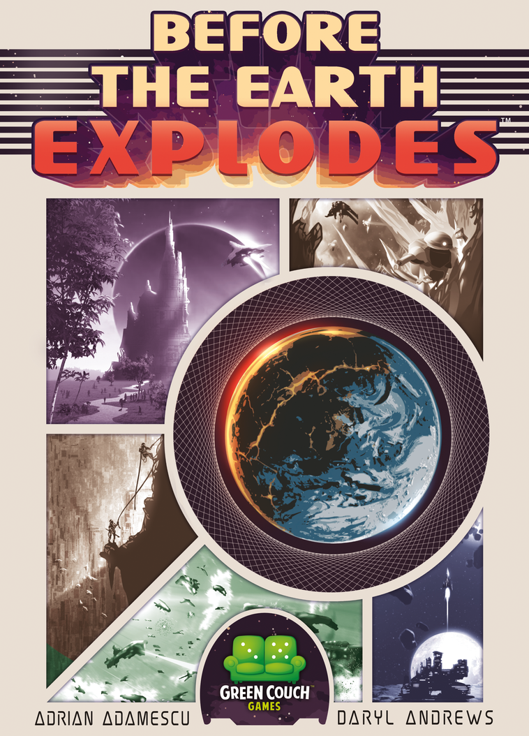 BEFORE THE EARTH EXPLODES - Box Art by DavyWagnarok