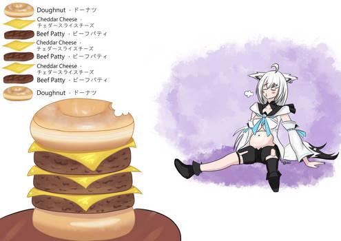 Daily Fubuki Drawing - Triple Doughnut Burger