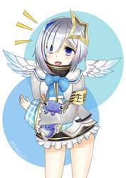 Kanata With Her Blue Axolotl