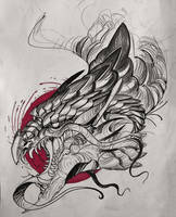 dragon sketch by mojo123s