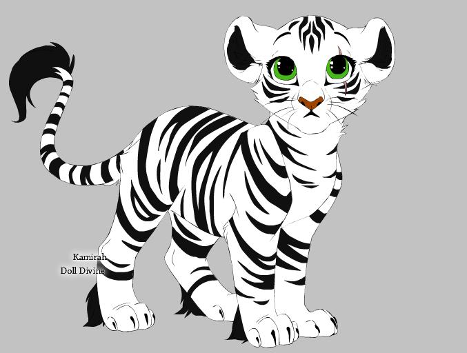 Lion-White Tiger Mix Adoptable by WahyaMiakoda on DeviantArt - photo#3