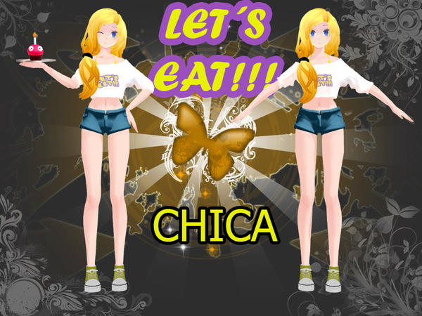 MMD-MODEL CHICA HUMAN-FNaF- [NO DL] By Flaky-kirara On