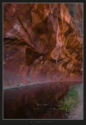 Red Rocks - Red Reflection by HogRider
