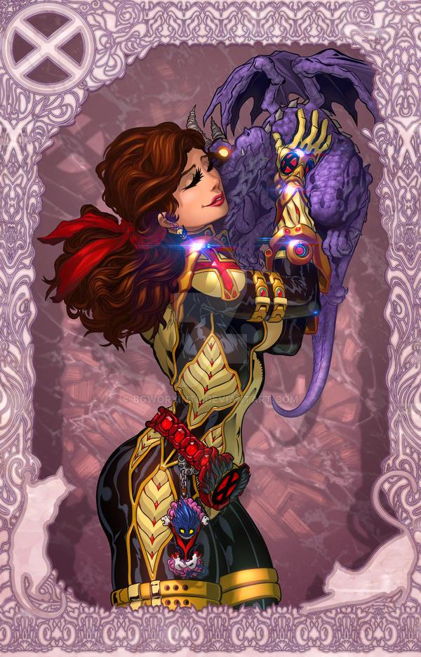 Kitty Pryde aka Shadowcat + Lockheed by BGWorxIntl