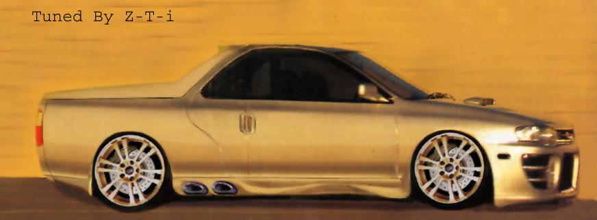 Gold Choppa Subaru WRX wagon Gold ZTi by