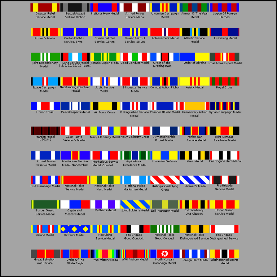 List Of Us Military Medals Images