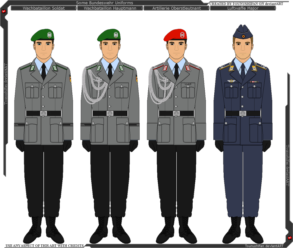 some bundeswehr modern german military uniforms by grand