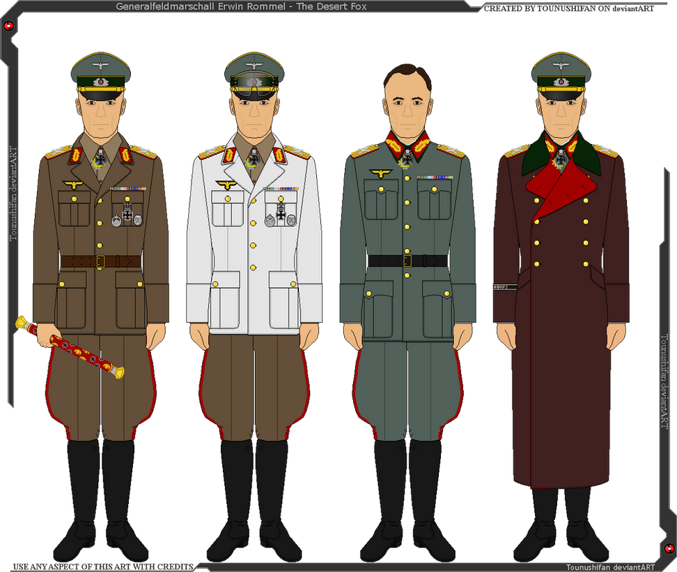 some of erwin rommels uniforms by grandlobsterking on
