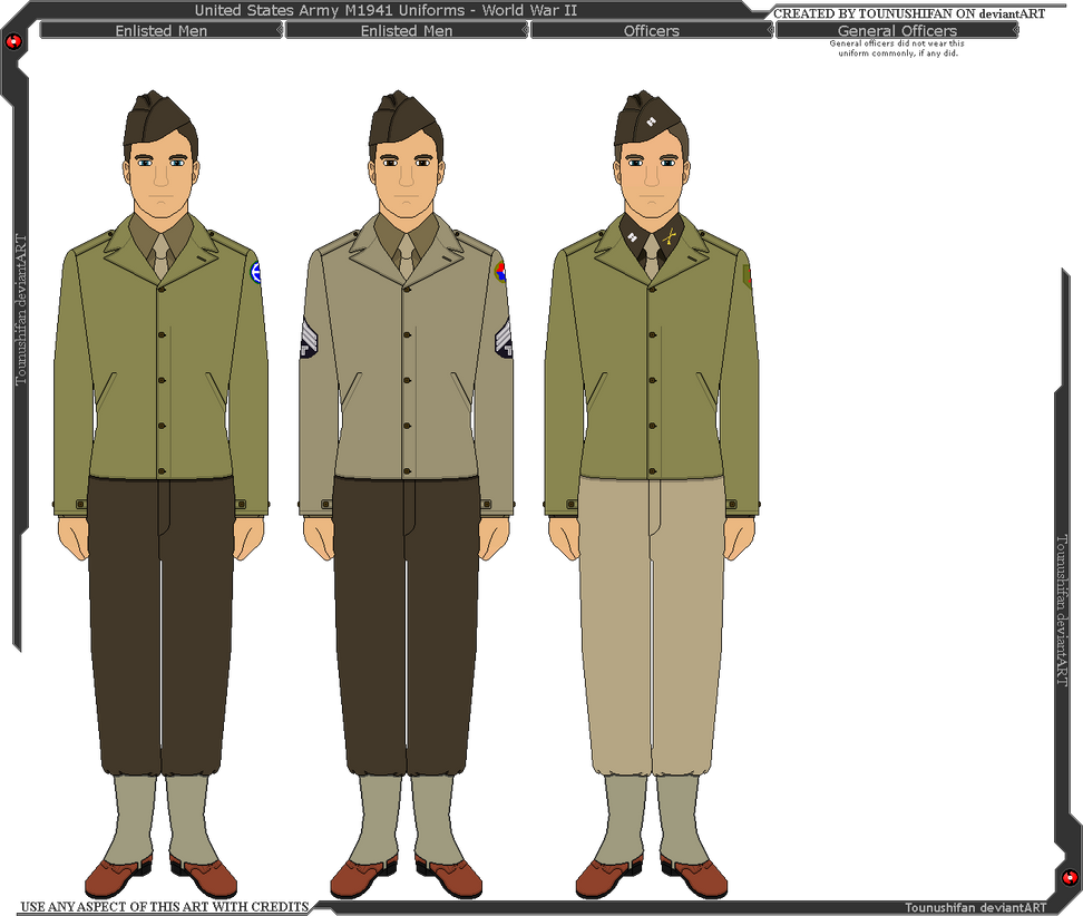 Wwii us army m1941 uniforms by grand lobster king on deviantart wwii us army m1941 uniforms by grand lobster king publicscrutiny Choice Image