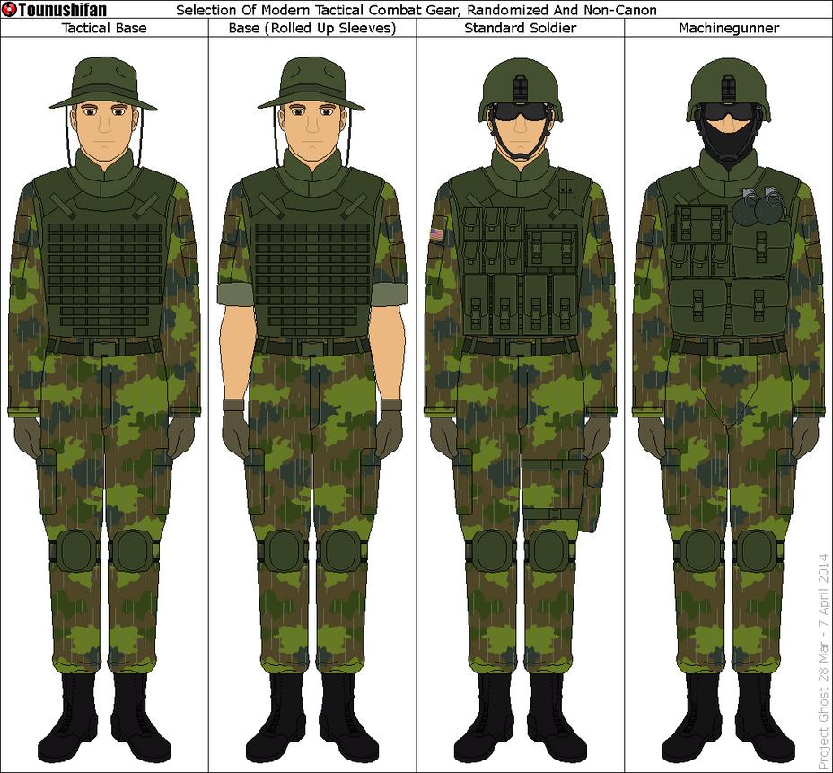 Modern military uniforms