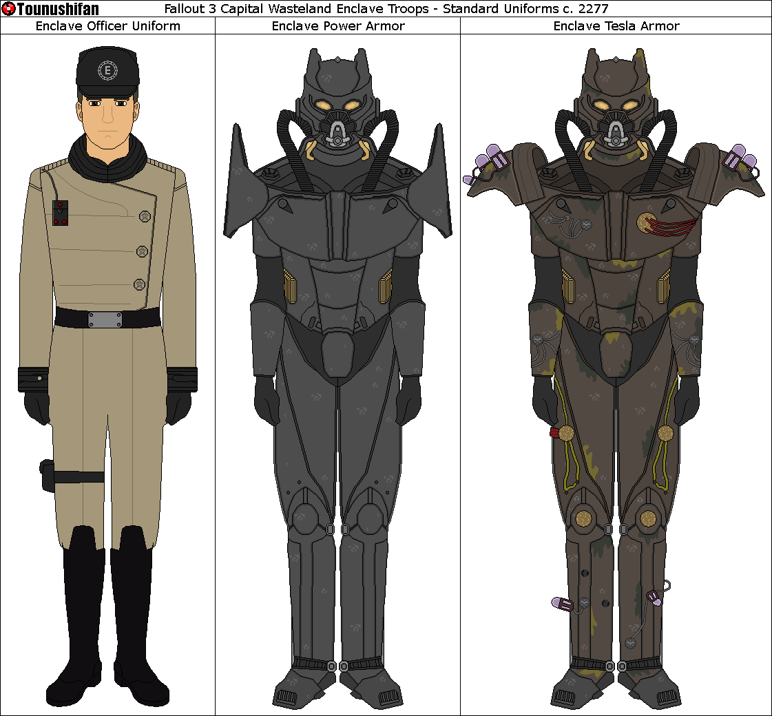 Fallout 3 Enclave Power Armor/Officer Uniform by Grand-Lobster-King on DeviantArt