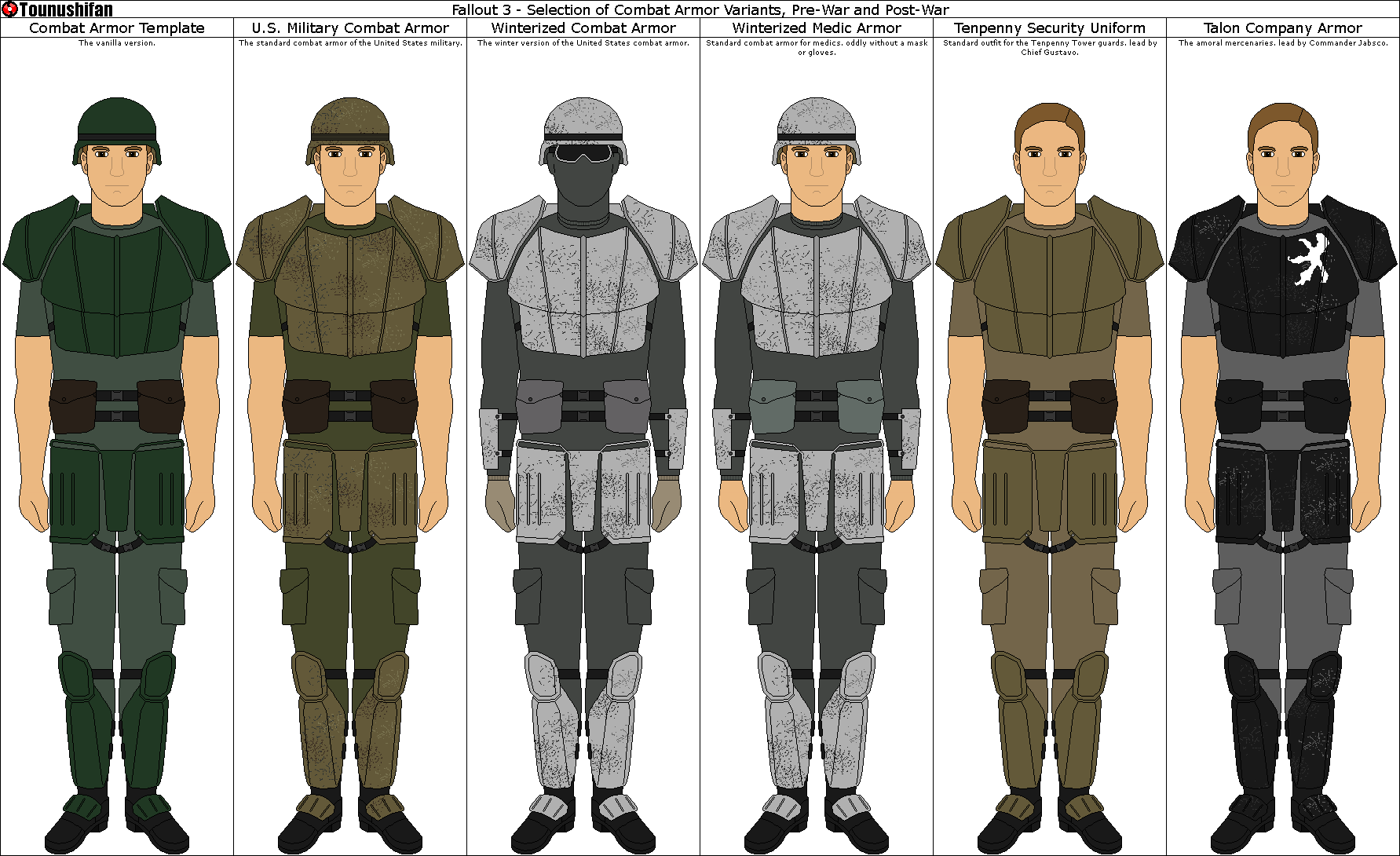 Fallout 3 - Combat Armor by Grand-Lobster-King on DeviantArt