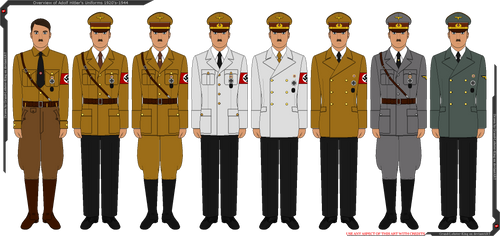 Overview of Adolf Hitler's Uniforms by Grand-Lobster-King