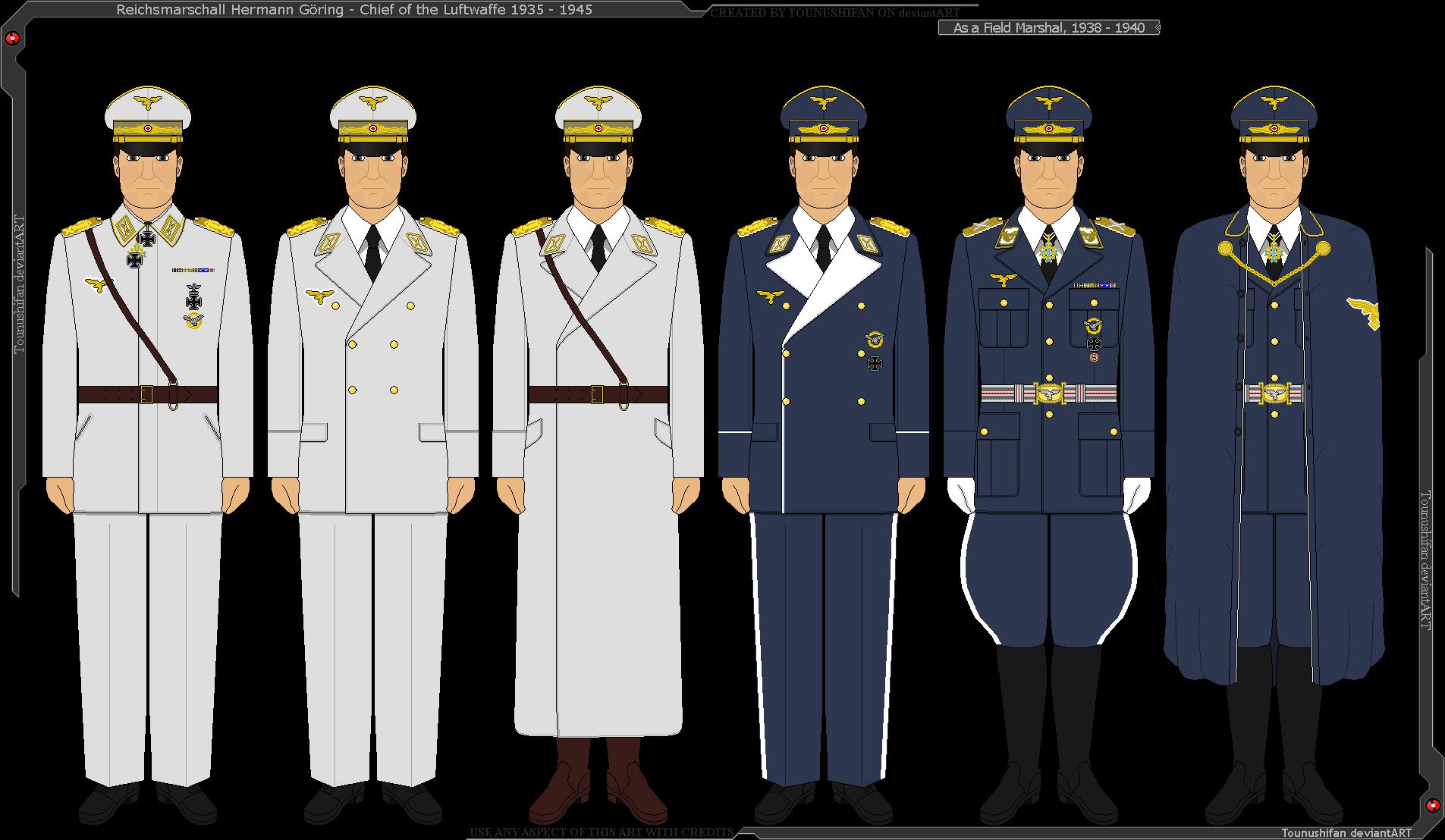 Some Of Reichsmarschall Hermann Goring S Uniforms By Grand