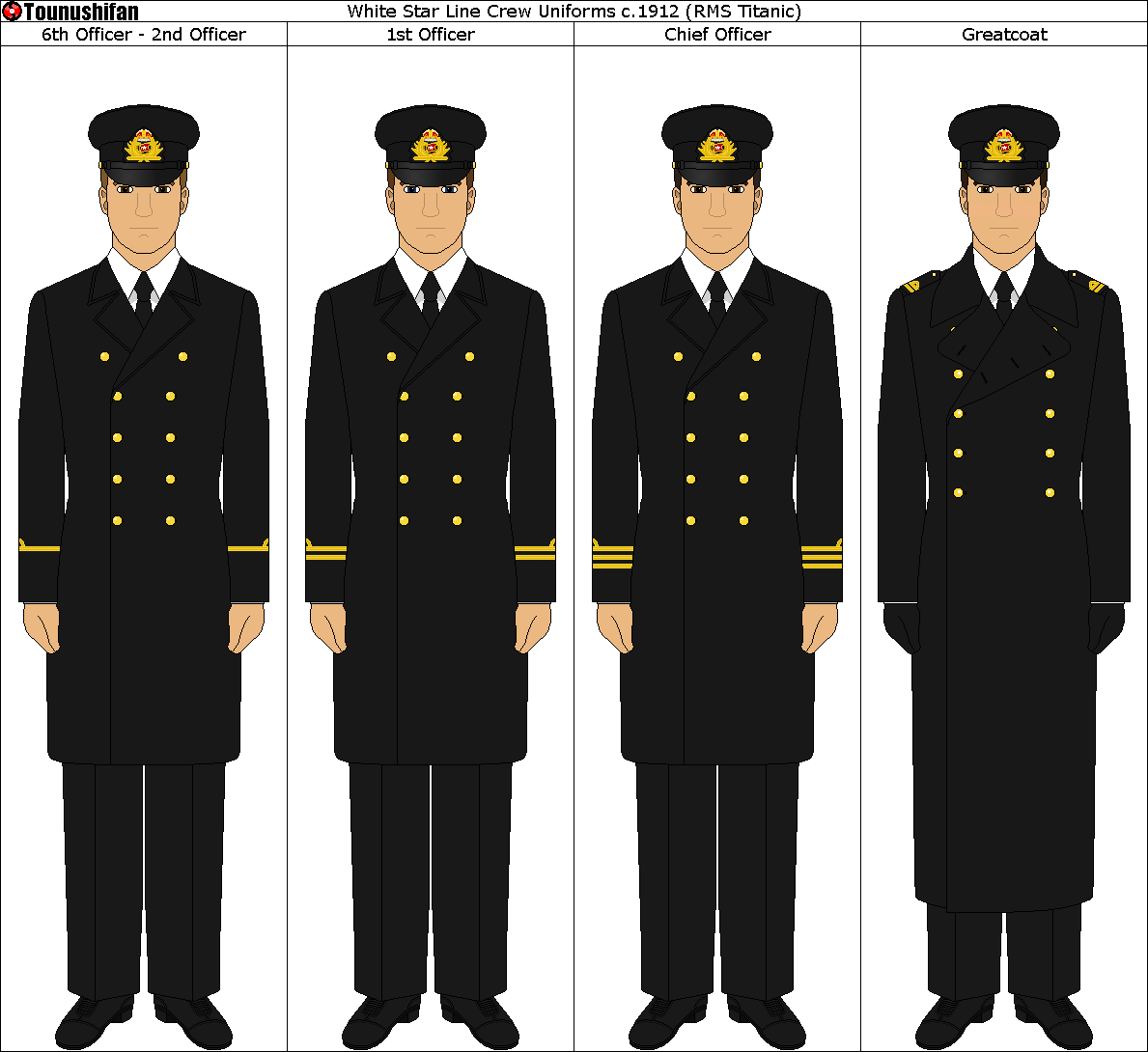 White Star Line Uniforms c.1912 [RMS Titanic Crew]