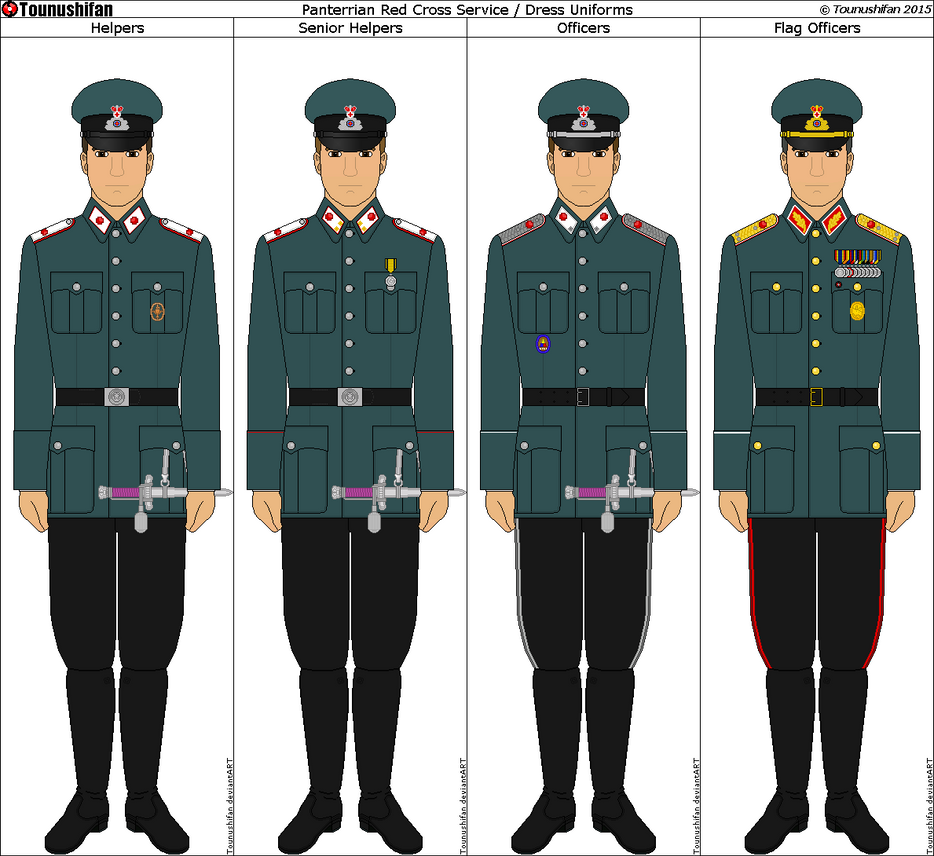 Panterria - Red Cross Dress/Service Uniforms by Grand-Lobster-King on DeviantArt