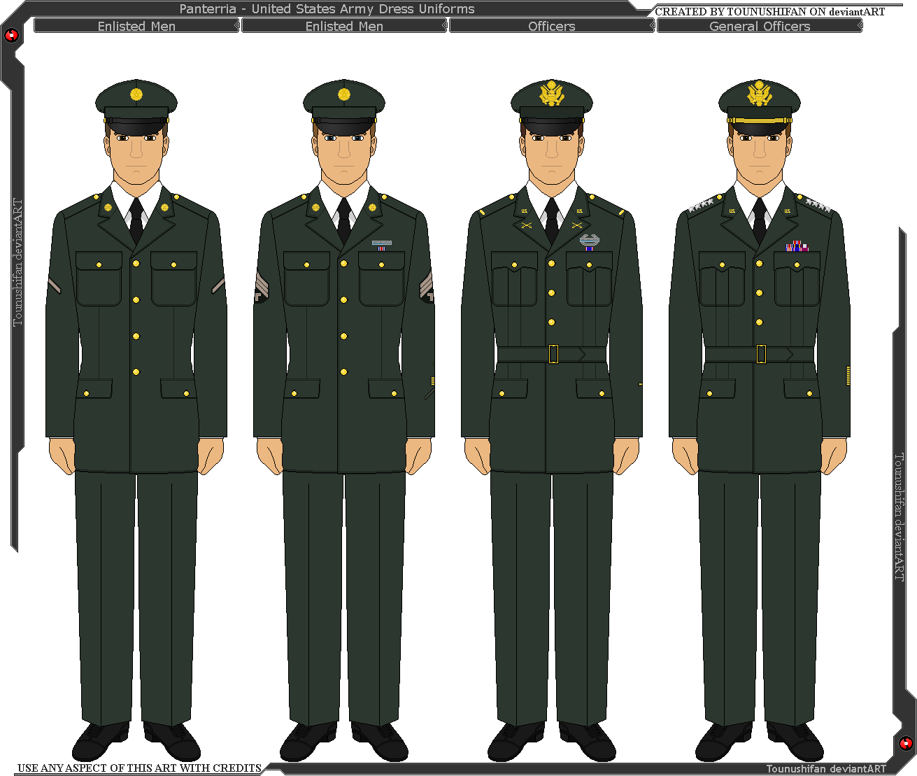 panterria united states army dress uniforms by grand