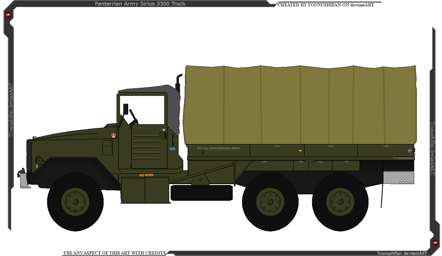Sirius M3300, Panterrian Army Truck by Grand-Lobster-King on