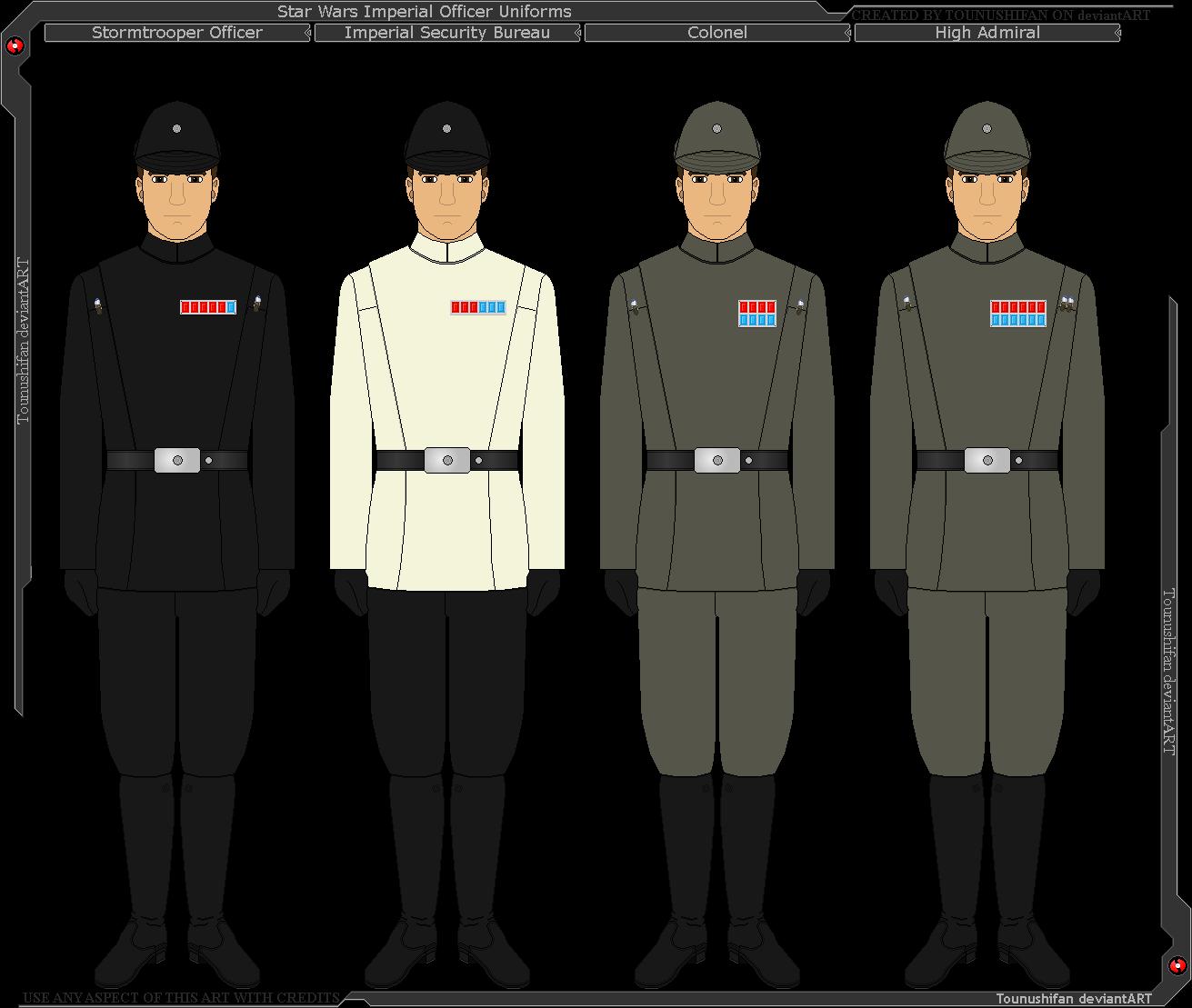 Star Wars - Imperial Officer Uniforms by Grand-Lobster-King on DeviantArt