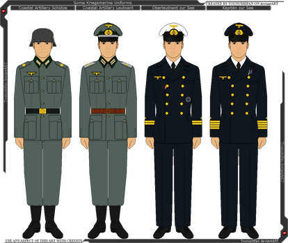 Some Kriegsmarine Uniforms