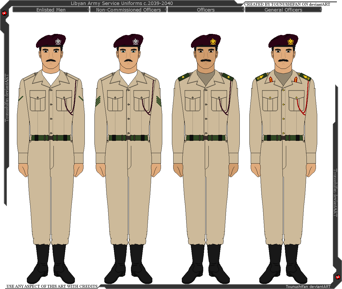 Panterria - Libyan Army Service Uniforms by Grand-Lobster-King on DeviantArt