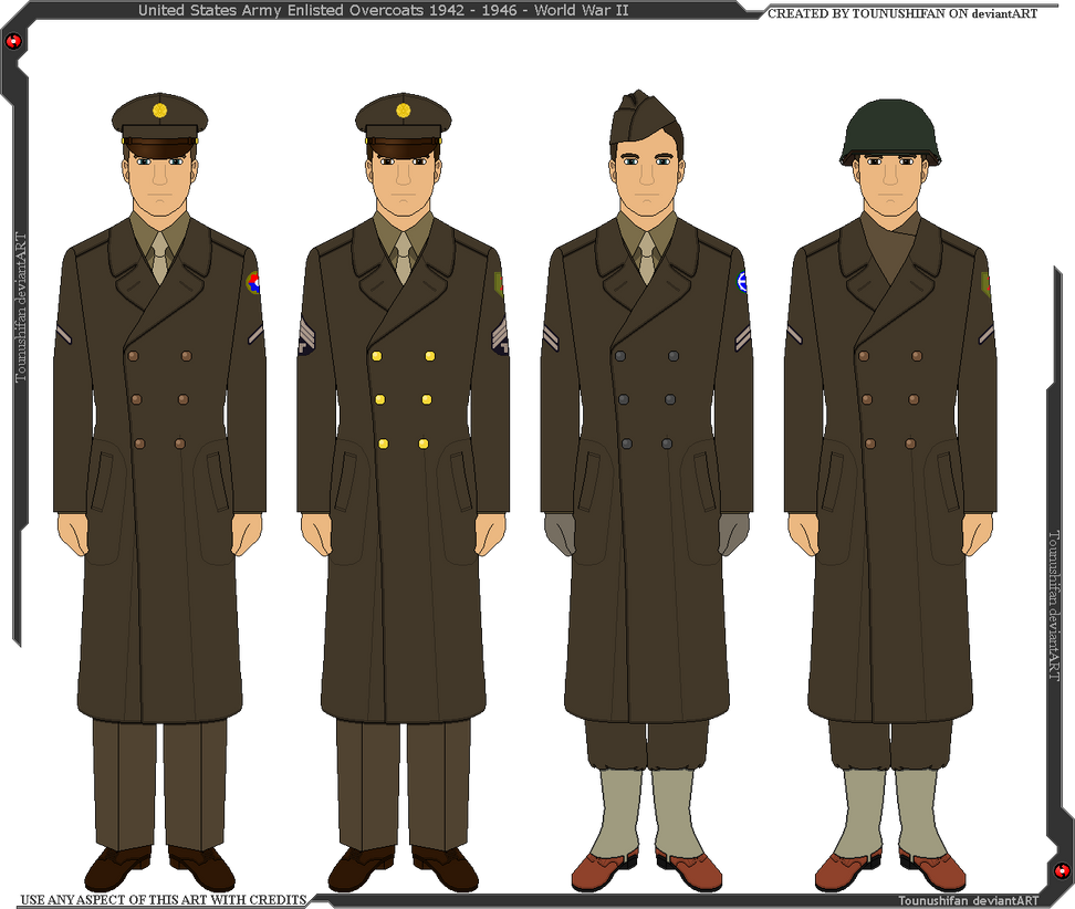 WWII U.S. Army M1942 Wool Overcoats by Grand-Lobster-King on DeviantArt